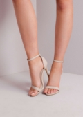 Strapped Barely There Heeled Sandals Nude